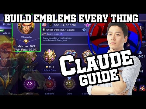 Everything about Claude Guide (Build, Emblem, Tips)ㅣMobile Legends