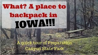 What? A place to backpack in Iowa!