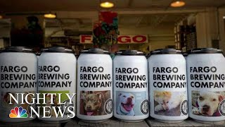 North Dakota Brewery Using Beer Cans To Help Dogs Find Forever Homes | NBC Nightly News