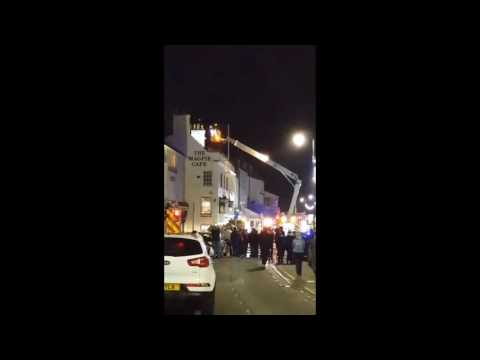 Fire at the Magpie in Whitby
