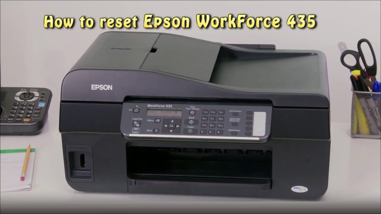 Reset Epson WorkForce 435 Waste Ink Pad Counter