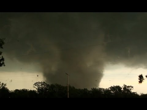 TORNADO INTERCEPT!  just northeast of Edmond, OK! Jim Cantore on-board!