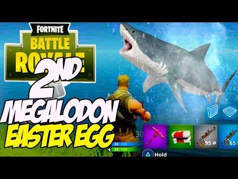 Download Youtube: Fortnite Battle Royale MEGALODON Easter egg -2ND Giant Shark found!