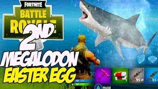 Fortnite Battle Royale MEGALODON Easter egg -2ND Giant Shark found!