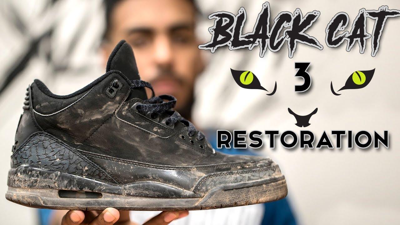 8a646ae82d28 Restorations with Vick - Air Jordan Black Cat 3 Restoration - YouTube