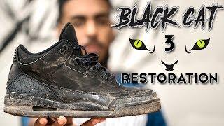 Restorations with Vick - Air Jordan Black Cat 3 Restoration