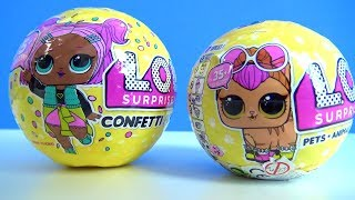 LOL Confeti Pop ve LOL Pets sürpriz yumurta açıyoruz Toys and Fun 3. sezon LOL Confeti Pop açıyor