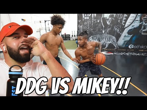 DDG 1V1 AGAINST 16 Year Old Mikey Williams!! INTENSE REACTION