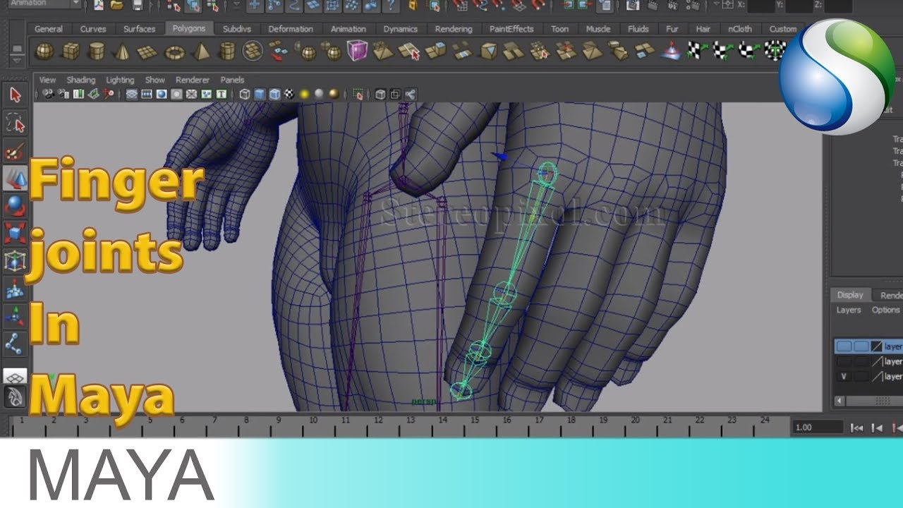Rigging In Maya Chapter 05 - Finger joints