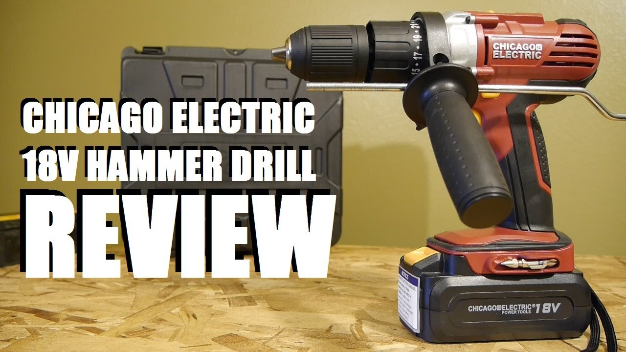 Harbor Freight Chicago Electric 18 Volt Hammer Drill Review Tool Craze