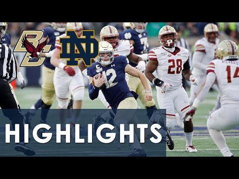 Boston College Vs. Notre Dame | EXTENDED HIGHLIGHTS | 11/23/19 | NBC Sports