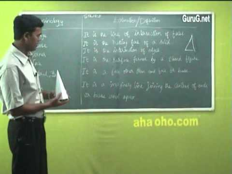 Unit-3 Introduction to Terminology & Explanation - Engineering Graphics