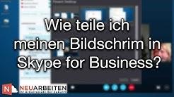 Wie teile ich meinen Bildschirm in Skype for Business | NEUARBEITEN (S4B Tutorial)