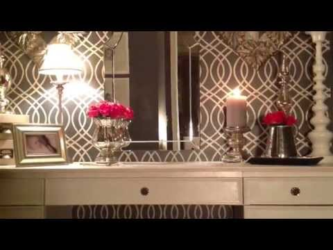 """A Plain Closet Becomes an Old Hollywood """"Glam"""" Dressing Room"""