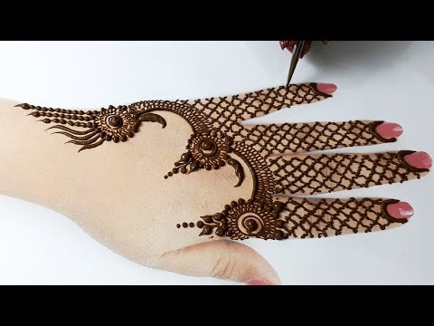 मेहँदी लगाना सीखे - Easy Bridal Gol tikki Mehndi Design - Full Hand Mehndi Design Step by Step
