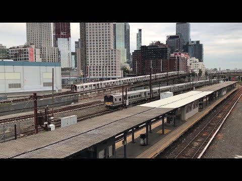 Morning Rush Hour @ Hunterspoint Avenue [NYC Subway, LIRR, & Amtrak] 9/16/19