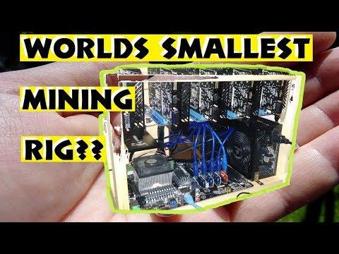 Worlds Smallest Mining Rig?? 5x GTX 1050, 400 watts, 850 sol/s