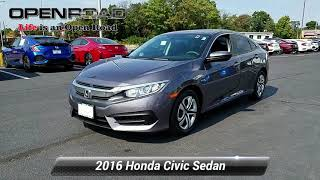 Certified 2016 Honda Civic Sedan LX, Edison, NJ 10993P