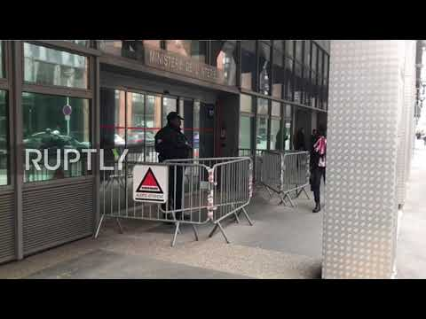 France: Press gathers outside Judiciary Police offices as Sarkozy questioned over campaign funding