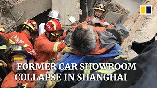 Former Mercedes showroom collapses in Shanghai, trapping over a dozen people