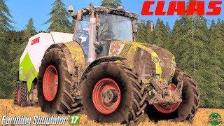 Farming Simulator 17   Claas Axion 830 + Claas Quadrant 3200 RotoCut