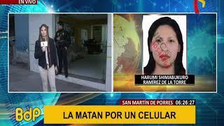 SMP: mujer es asesinada a balazos por resistirse al robo de su celular (2/2)