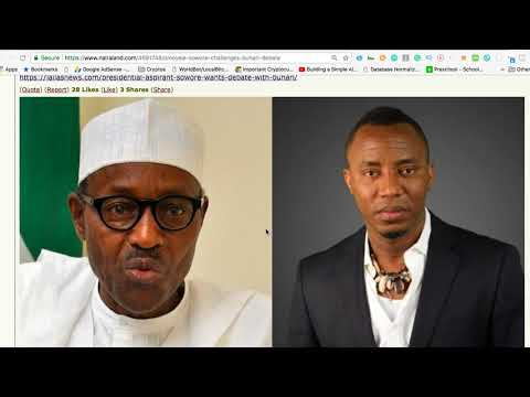 SOWORE CHALLENGES BUHARI ON CHANNELS TV TO A DEBATE