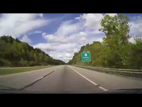 Driving on I77 from Charleston, WV to New Philadelphia, Ohio