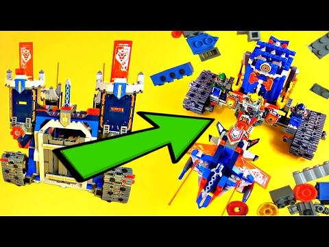 LEGO NEXO Knights 70317 The Fortrex How to Make Alternative Build