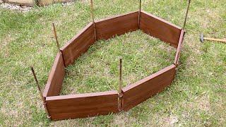 Изготовление модульного ограждения грядок(Free woodworking tutorial