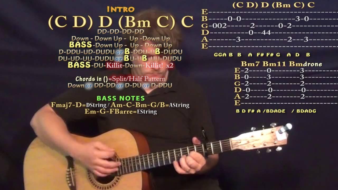 Do You Mind Dj Khaled Guitar Lesson Chord Chart Capo 3rd Youtube