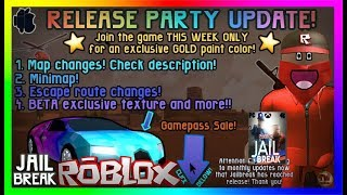 Roblox - Jailbreak [UPDATE] 🔥Official Release🔥 NEW ESCAPE METHODS,MINIMAP, PIXEL SKIN for Beta Users