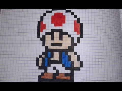 Comment Dessiner Toad En Pixel Art Speed Draw Youtube