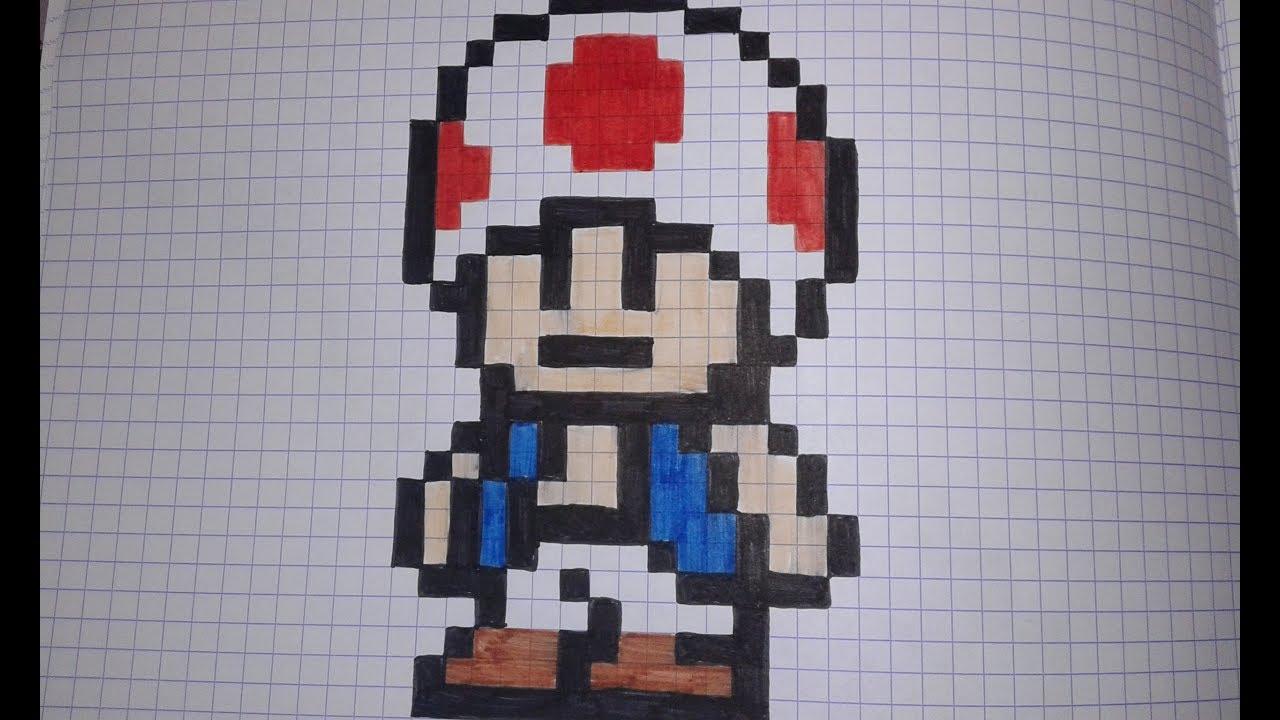 Comment Dessiner Toad En Pixel Art Speed Draw