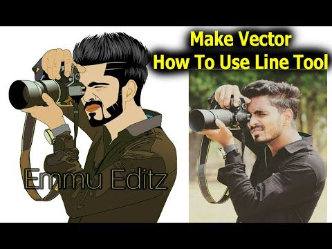 Make Vector Avatar Using Android Mobile Like a Photoshop | emmu Editz
