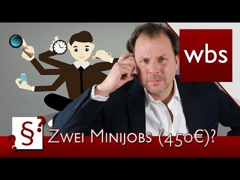 Darf ich mehrere geringfügige Beschäftigungen (Minijobs/450-Euro-Jobs) haben? | Kanzlei WBS