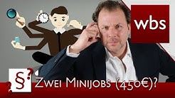 Darf ich mehrere geringfügige Beschäftigungen (Minijobs/450-Euro-Jobs) haben?   Kanzlei WBS