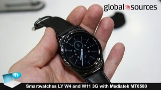 LY W4 and LY W11 smartwatch 3G with Mediatek MT6580