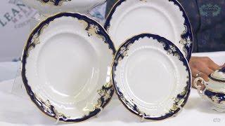 Посуда из белого фарфора Соната (Sonata) Кобальтовый орнамент 1357 (Leander, Чехия)(, 2017-01-08T17:02:07.000Z)