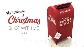CHRISTMAS SHOP WITH ME || Part 1 || Michaels | Homegoods | Hobby Lobby