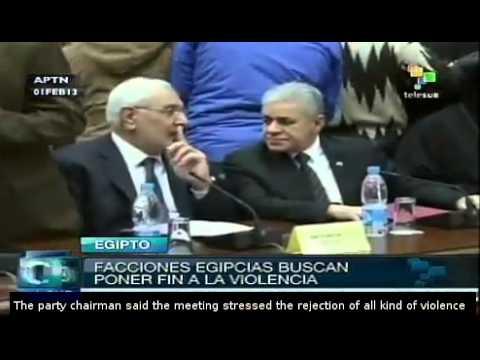 Rival Egypt political camps agreed framework to end violence