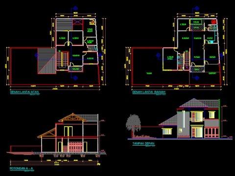 55+ Gambar Cara Desain Rumah Autocad Gratis Terbaik Download