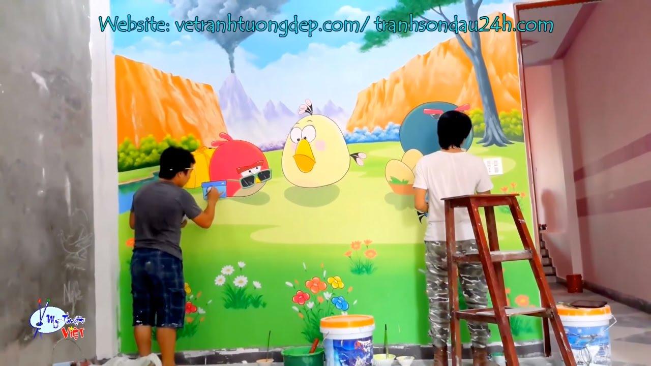 Vẽ tranh tường phòng bé trai tại hà Nội, nhận thi công vẽ tranh tường mầm non trên toàn quốc.