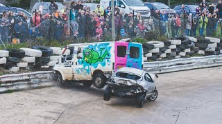 Banger Racing Angmering Oval Raceway Caravan Bangers - 30th December 2018