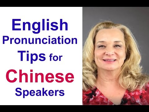 English pronunciation lesson for Chinese speakers