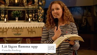 Låt lågan flamma upp - predikan av Cornelia Forsberg
