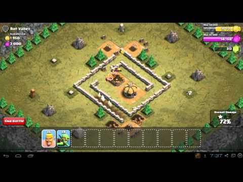 Clash Of Clans Rat Valley 3 Star Walkthrough & Stratey Guide
