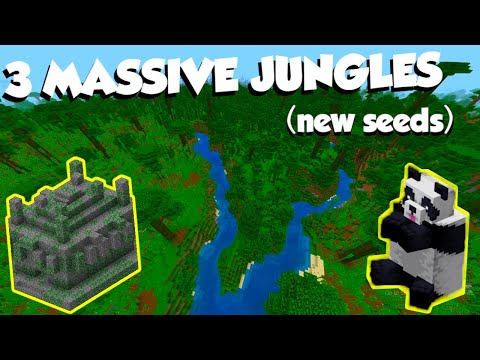 3 Amazing JUNGLE Seeds!! (Minecraft: Bedrock Edition)