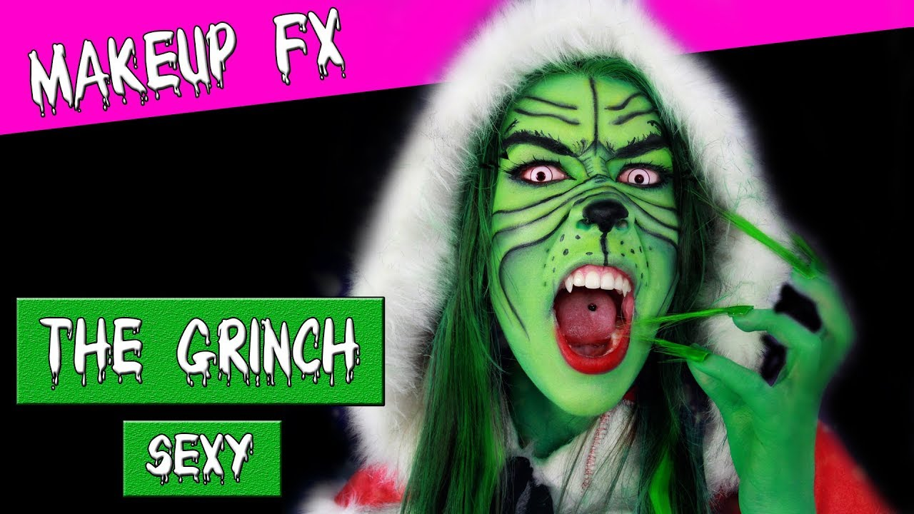 Grinch make up facepainting
