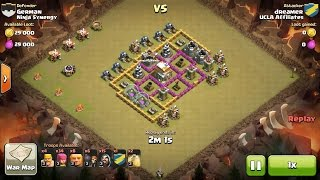 Clash of Clans TH6 vs TH6 Giant & Wizard (GiWi) Clan War 3 Star Attack